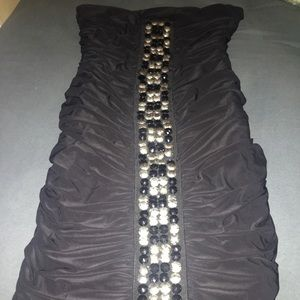 Tube top dress with beads